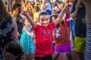 Foster Cruise Kid Celebrating on Boat